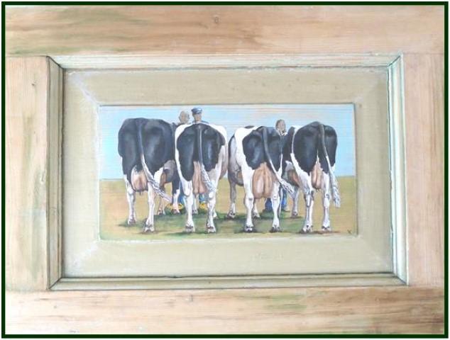 koeien : toen op stal nu in de keuken