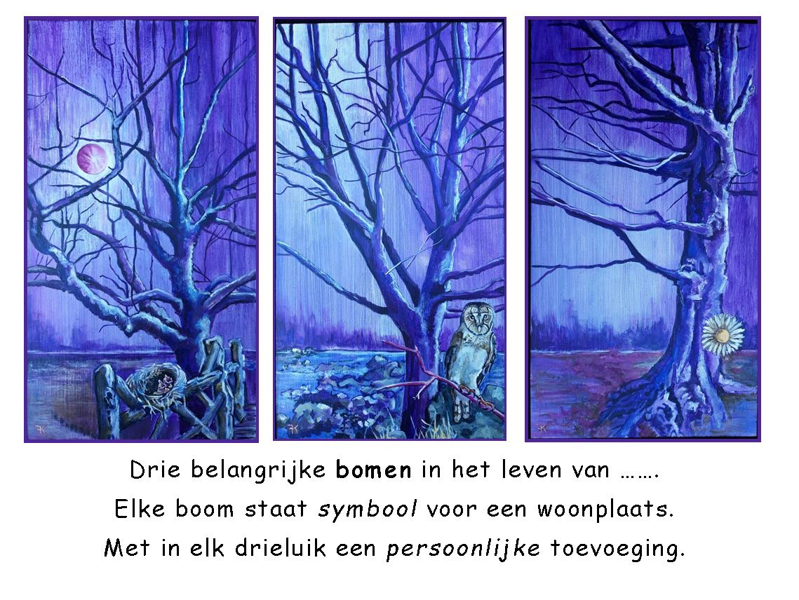 drieluik bomen